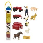 Safari Ltd., Down On The Farm Toob, Ages 3 Years and Older, 12 Pieces
