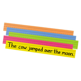 Pacon, Super Bright Sentence Strips, Assorted Colors, 3 x 24 inches, 100 Strips