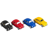 The Toy Network, 1967 Volkswagen Beetle Pullback Toy Car, Die-Cast Metal, 5 inches