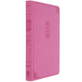 NIV Value Thinline Bible, Large Print, Imitation Leather, Pink