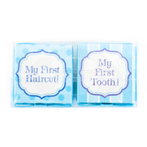 Baby Boy First Tooth and First Haircut Box Set, Blue, 2 Count