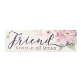 Carson Home Accents, A Friend Loves At All Times Magnet, Resin, 6 x 2 inches