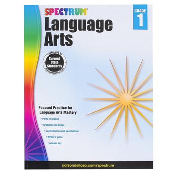 Carson-Dellosa, Spectrum Language Arts Workbook, Paperback, 128 Pages, Grade 1