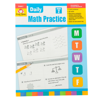 Evan-Moor, Daily Math Practice Teacher's Edition, Paperback, 128 Pages, Grade 2
