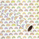 Brother Sister Design Studio, Gift Wrap Roll, Retro Rainbows, 50 square feet