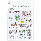 the Paper Studio, Stick-a-bilities Work Week Phrases Stickers, 34 Stickers