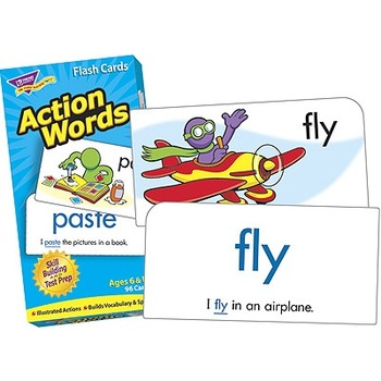 Trend, Action Words Flash Cards