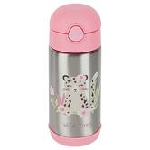 Stephen Joseph, Leopard Water Bottle, Stainless Steel, Pink & Silver, 11.8 ounces