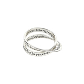 Dicksons, InspiRing, Matthew 5:3-10 Double Mobius, Women's Ring, Silver Plated, Sizes 6-9