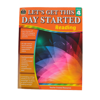 Teacher Created Resources, Let's Get This Day Started: Reading Grade 4, Paperback, 112 Pages, Grade 4