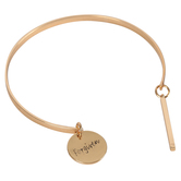 Modern Grace, Psalm 46:1 Bar with Forgiven Charm Bangle Bracelet, Zinc Alloy, Gold