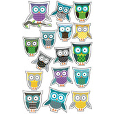 Renewing Minds, Owls Shaped Stickers, Multi-Colored, Pack of 80