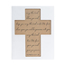 Numbers 6:24-26 May The Lord Bless You Wall Cross, MDF, Brown & Black, 11 1/2 x 8 3/4 x 1 1/2 inches