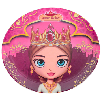 He Loves Me, Queen Esther Plate, Melamine, 8 inches