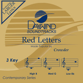 Red Letters, Accompaniment Track, As Made Popular by Crowder, CD