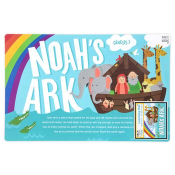 Salt & Light Kids, Noahs Ark Learning Mat, Plastic, 11 1/2 x 17 1/2 Inches, Ages 3 & Older