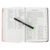 NLT Slimline Center-Column Reference Bible, Duo-Tone, Pink and Brown, Thumb Indexed