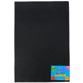 Silly Winks, Glitter Foam Sheet, Black, 12 x 18 Inches, 1 Each