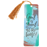Salt & Light, God Is Good All The Time Tassel Bookmark, 2 1/4 x 7 inches