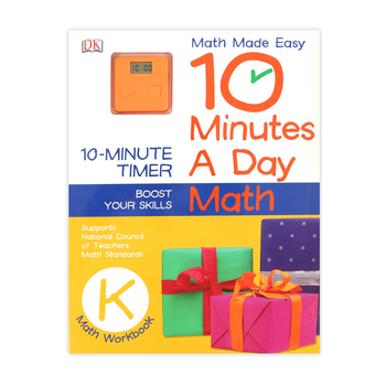 DK, 10 Minutes A Day Math Activity Workbook with Timer, Paperback, 80 Pages, Grade K