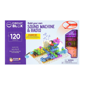 E-Blox, Circuit Blox, Build Your Own Sound Machine & Radio, 120 Projects, Ages 8 & Older