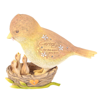 Enesco, Foundations, Caring For The Ones You Love Bird Figurine, Resin, 4 inches