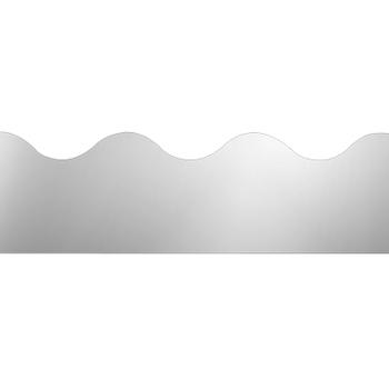 Renewing Minds, Scalloped Border Trim, 32 Feet, Silver Metalic