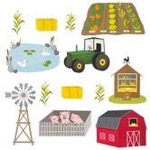 Creative Teaching Press, Farm Friends Farm Fun Bulletin Board Set, 21 Pieces