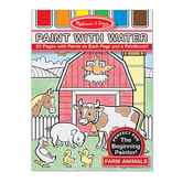 Melissa & Doug, Farm Animals Paint with Water Art Pad, Paperback, Ages 3-5, 20 Pages