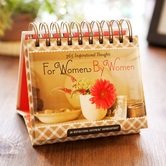 DaySpring, For Women By Women Perpetual Calendar, Paper, 5-1/2 x 5-1/4 x 1-1/4 inches