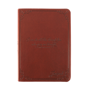 SoulScripts, Philippians 4:13, Compact Flexcover Journal, Brown, 5 1/4 x 7 1/4 inches, 240 pages