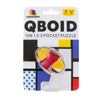 Ceaco, Qboid: The 1-2-3 Pocket Puzzle, 6 x 2 x 4 inches, Ages 8 and Older