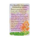 Blue Mountain Arts, Beautiful Courageous Outstanding Woman Wallet Card, 2 x 3 1/4 inches