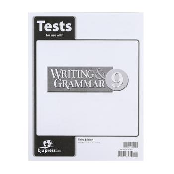 BJU Press, Writing & Grammar 9 Tests (3rd Edition)