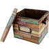Teacher Created Resources, Reclaimed Wood Storage Box, Brown, 10 1/2 x 12 x 13 inches
