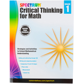 Spectrum, Critical Thinking for Math Workbook, 128 Pages, Grade 1