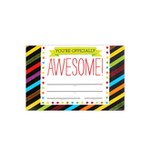 Chalk Talk Collection, You're Officially Awesome! Certificate, 8.5 x 6.5 Inches, 30 Count