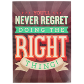 Renewing Minds, You'll Never Regret Motivational Poster, 13.25 x 19 Inches, 1 Piece