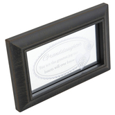Carson Home Accents, Granddaughter You Are The Greatest Joy Glass Plaque, Dark Brown, 6 x 3 7/8 inches