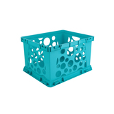 Storex, Premium File Storage Crate, Teal, 17.25 x 14.25 x 10.50 Inches, 1 Piece