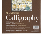 Strathmore, 400 Series Calligraphy Paper Pad, 8 1/2 x 11 Inches, 50 Sheets