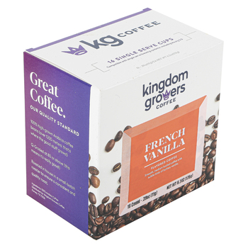 Kingdom Growers Coffee, French Vanilla Single Serve Cups, 16 K-Cups