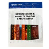 Master Books, General Science 2 Teacher, Survey of Geology and Archaeology, Grades 7-12