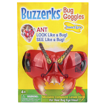 Insect Lore, Buzzerks® Ant Goggles, Red, Ages 4 Years and Older, 1 Pair
