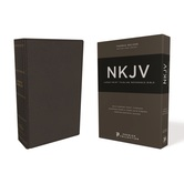 NKJV Thinline Reference Bible, Large Print, Premium Goatskin Leather, Black