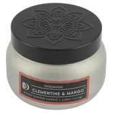 D&D, Clementine and Mango Scented Candle in Tin, White, 3.98 ounces