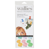 Wallies, Peel and Stick Hang It Up - Push Pins Decals, 1 x 1.75 Inches, 30 Pieces