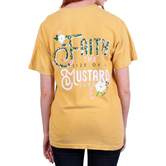 Beautifully Blessed, Matthew 12:20 Faith Of A Mustard Seed, Women's Short Sleeve T-Shirt, Mustard Yellow, Small