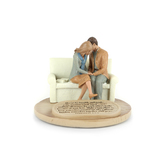 Lighthouse Christian Products, Couple Praying Figurine, Cast Stone, 6 x 6 x 4 1/2 inches
