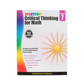 Spectrum, Critical Thinking for Math Workbook, 128 Pages, Grade 7